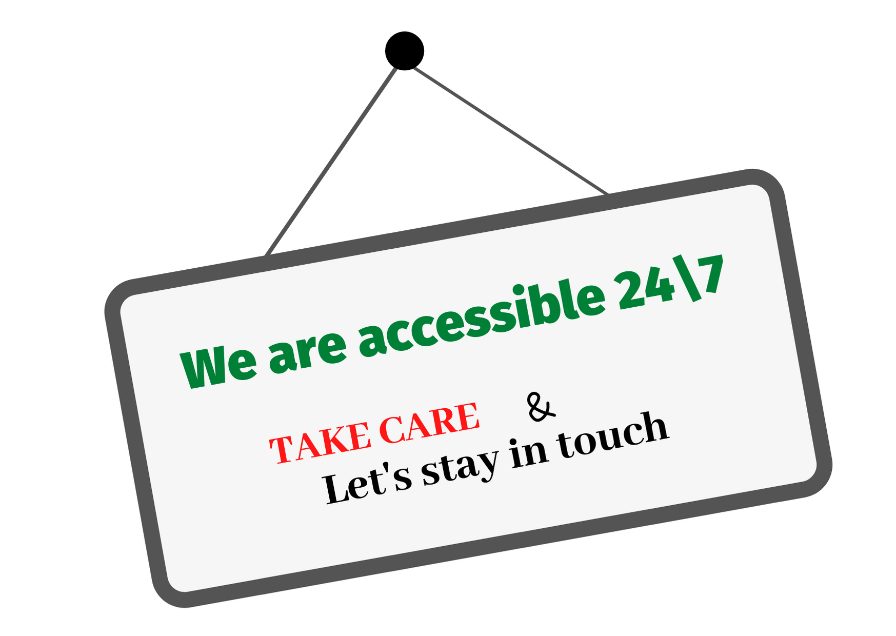We are accessible !